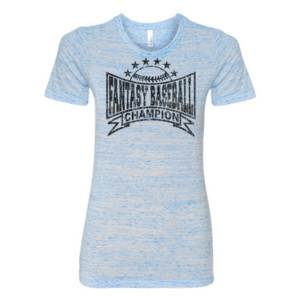 Fantasy Baseball Champion Baseball Stars - (S) Ladies' Cotton/Polyester T-Shirt