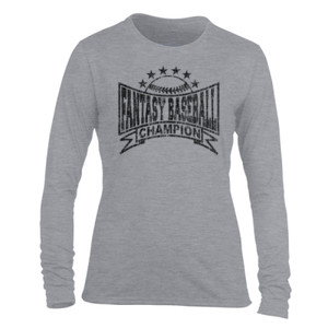 Fantasy Baseball Champion Baseball Stars - Light Ladies Long Sleeve Ultra Performance Active Lifestyle T Shirt