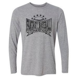 Fantasy Baseball Champion Baseball Stars - Light Long Sleeve Ultra Performance Active Lifestyle T Shirt
