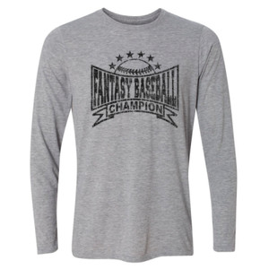 Fantasy Baseball Champion Baseball Stars - Light Youth Long Sleeve Ultra Performance Active Lifestyle T Shirt