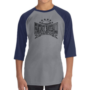 Fantasy Baseball Champion Baseball Stars - ALO 100% Performance Youth Baseball T-Shirt