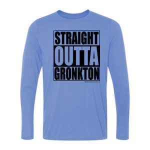Straight Outta Gronkton - Light Ladies Long Sleeve Ultra Performance Active Lifestyle T Shirt