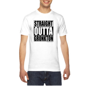 Straight Outta Gronkton - American Apparel Unisex T-Shirt