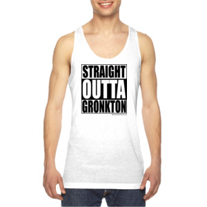 Straight Outta Gronkton - American Apparel Unisex Sublimation Tank