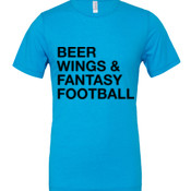 Beer Wings & Fantasy Football - White Marble Polyester / Cotton T-Shirt