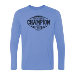 2016 Fantasy Football Champion Outline - Light Ladies Long Sleeve Ultra Performance Active Lifestyle T Shirt