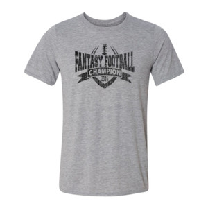 2016 Fantasy Football Champion V Outline - Light Youth/Adult Ultra Performance Active Lifestyle T Shirt