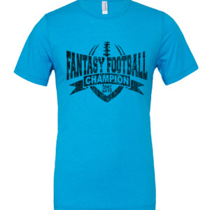 2016 Fantasy Football Champion V Outline - White Marble Polyester / Cotton T-Shirt