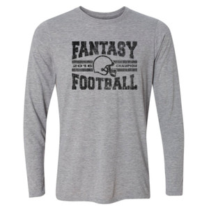 2016 Fantasy Football Champion H Helmet - Light Youth Long Sleeve Ultra Performance Active Lifestyle T Shirt
