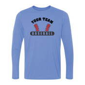 Custom Baseball Laces - Light Youth Long Sleeve Ultra Performance 100% Performance T Shirt