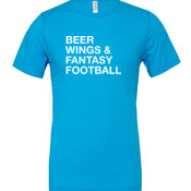 Beer Wings & Fantasy Football - Cotton/Polyester T-Shirt