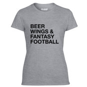 Beer Wings & Fantasy Football - Light Ladies Ultra Performance Active Lifestyle T Shirt