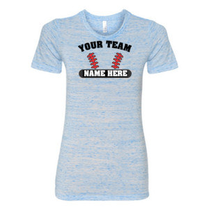 Custom Baseball Laces Full Custom - (S) Ladies' Cotton/Polyester T-Shirt