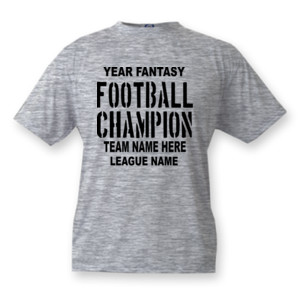 Fantasy Football Champion with League  - Vapor Basic Performance Tee