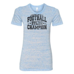 Fantasy Football Champion FFL 2014 - (S) Ladies' Cotton/Polyester T-Shirt