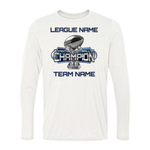 Fantasy Football Champion Large Trophy - Light Youth/Adult Ultra Performance Active Lifestyle T Shir - Light Long Sleeve Ultra Performance Active Lifestyle T Shirt