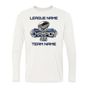 Fantasy Football Champion Large Trophy - Light Youth/Adult Ultra Performance Active Lifestyle T Shir - Light Youth Long Sleeve Ultra Performance Active Lifestyle T Shirt