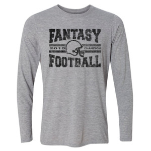 2015 Fantasy Football Champion H Helmet - Light Long Sleeve Ultra Performance Active Lifestyle T Shirt