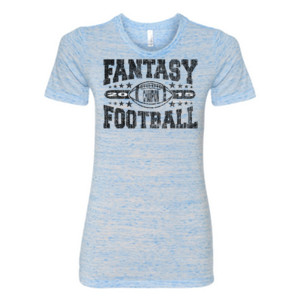 2015 Fantasy Football Champion Football - (S) Ladies' Cotton/Polyester T-Shirt