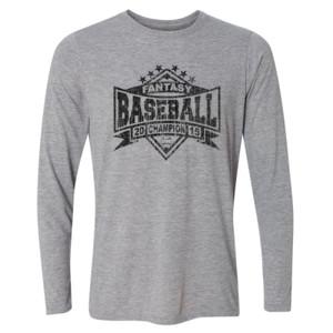 2015 Fantasy Baseball Champion Diamond Stars - Light Youth Long Sleeve Ultra Performance Active Lifestyle T Shirt