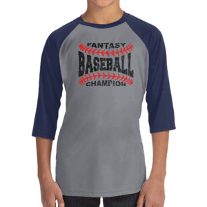 Fantasy Baseball Champion Laces  - ALO 100% Performance Youth Baseball T-Shirt