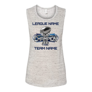 Fantasy Football Champion Large Trophy - Light Youth/Adult Ultra Performance Active Lifestyle T Shir - Bella Flowy Scoop Muscle Tank (S)