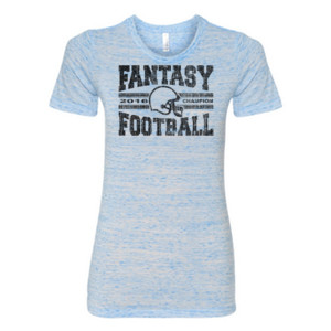 2016 Fantasy Football Champion H Helmet - (S) Ladies' Cotton/Polyester T-Shirt
