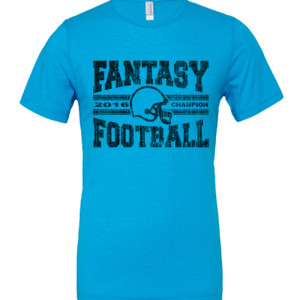 2016 Fantasy Football Champion H Helmet - White Marble Polyester / Cotton T-Shirt