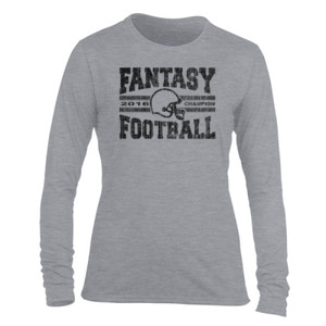 2016 Fantasy Football Champion H Helmet - Light Ladies Long Sleeve Ultra Performance Active Lifestyle T Shirt