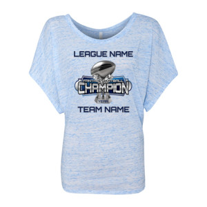 Fantasy Football Champion Large Trophy - Light Youth/Adult Ultra Performance Active Lifestyle T Shir - Women's Flowy Draped Sleeve Dolman Tee (S)