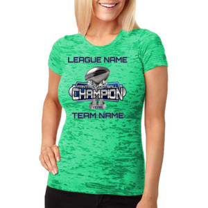 Fantasy Football Champion Large Trophy - Light Youth/Adult Ultra Performance Active Lifestyle T Shir - Ladies' Burnout Tee
