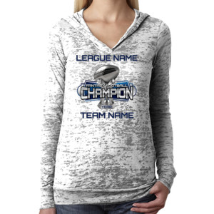 Fantasy Football Champion Large Trophy - Light Youth/Adult Ultra Performance Active Lifestyle T Shir - Ladies' Burnout Hoodie
