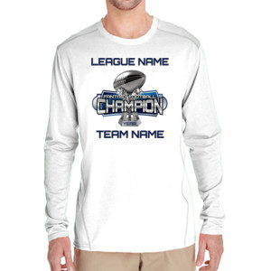 Fantasy Football Champion Large Trophy - Light Youth/Adult Ultra Performance Active Lifestyle T Shir - (S) Adult Tech Long-Sleeve Light Color T-Shirt
