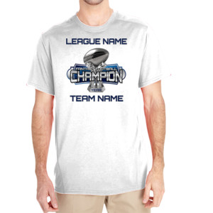 Fantasy Football Champion Large Trophy - Light Youth/Adult Ultra Performance Active Lifestyle T Shir - (S) Unisex Tech Short-Sleeve Light Color T-Shirt