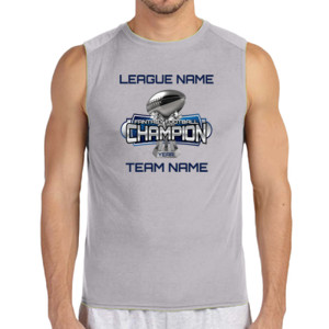 Fantasy Football Champion Large Trophy - Light Youth/Adult Ultra Performance Active Lifestyle T Shir - (S) Performance™ 4.5 oz. Sleeveless Light Color T-Shirt