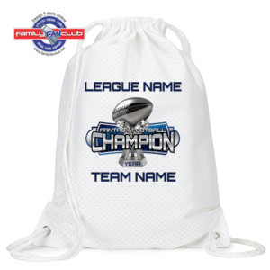 Fantasy Football Champion Large Trophy - Light Youth/Adult Ultra Performance Active Lifestyle T Shir - UltraClub Jersey Mesh Drawstring Sport Pack