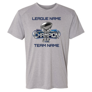 Fantasy Football Champion Large Trophy - Light Youth/Adult Ultra Performance Active Lifestyle T Shir - (S) Kinergy Training Light Color Tee