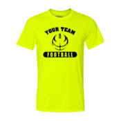 Custom Football Outline - Light Youth Ultra Performance 100% Performance T Shirt