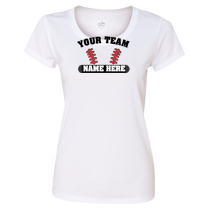 Custom Baseball Laces Full Custom - Light ALO Sport Ladies' Polyester T-Shirt