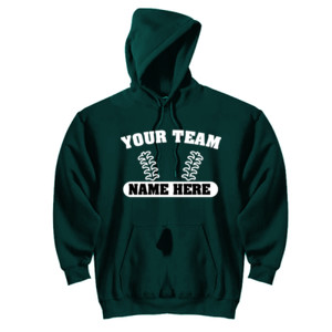 Custom Baseball Laces Full Custom - DryBlend™ Pullover Hooded Sweatshirt