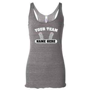 Custom Baseball Laces Full Custom - Ladies' Triblend Racerback Tank Top