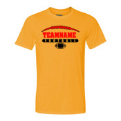 Football Laces Outline - Light Youth/Adult Ultra Performance 100% Performance T Shirt