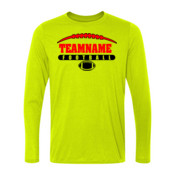 Football Laces Outline - Light Long Sleeve Ultra Performance 100% Performance T Shirt
