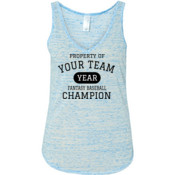 Custom Property of Your Fantasy Baseball - Ladies' Flowy V-Neck Tank