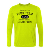 Custom Property of Your Fantasy Baseball - Light Long Sleeve Ultra Performance 100% Performance T Shirt