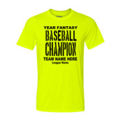 Custom Fantasy Baseball Championship T-shirt with League Name - Light Youth/Adult Ultra Performance 100% Performance T Shirt