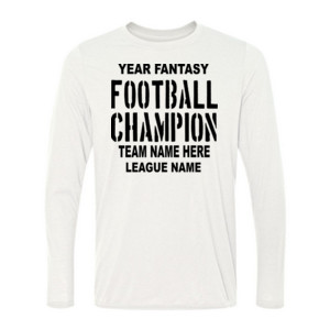 Fantasy Football Champion with League  - Light Youth Long Sleeve Ultra Performance 100% Performance T Shirt