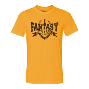 Fantasy Football Champion V Outline - Light Youth/Adult Ultra Performance Active Lifestyle T Shirt