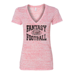 Fantasy Football Legend - Women's Jersey Short Sleeve Deep V-Neck Tee