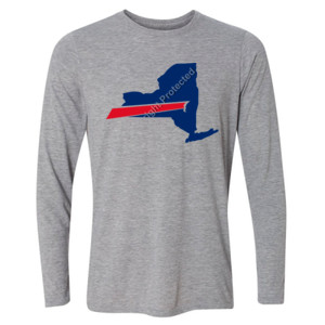 Buffalo is New York's Football Team - Light Youth Long Sleeve Ultra Performance Active Lifestyle T Shirt